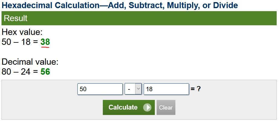 Simple hex math